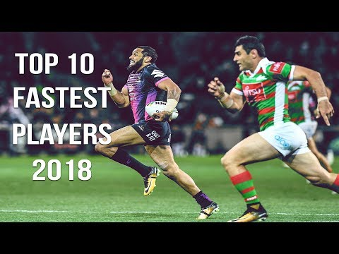NRL | Top 10 Fastest Players Of 2018 [HD]