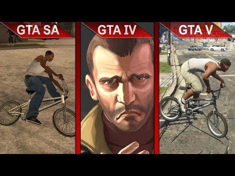THE BIG GTA COMPARISON 2 | GTA SA Vs. GTA IV Vs. GTA V | PC | ULTRA