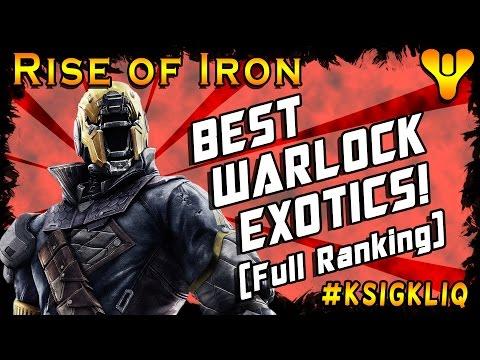 Destiny Best Warlock Exotics Full Exotic Armor Ranking