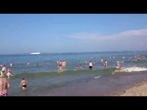 Tallinn Pikakari rand beach waves fun 60FPS 1080P
