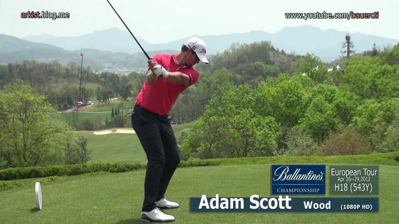 1080p Hd Adam Scott 2012 Wood With Practice Golf Swing