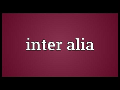 Inter alia Meaning
