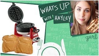 Peanut Butter Sandwich In A Waffle Iron - What's Up With Hayley