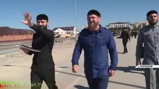 Рамзан Кадыров провел инспекцию строительных работ в Курчалое