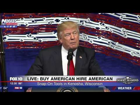 WATCH: President Trump Buy American Hire American Event - Kenosha WI (FNN)
