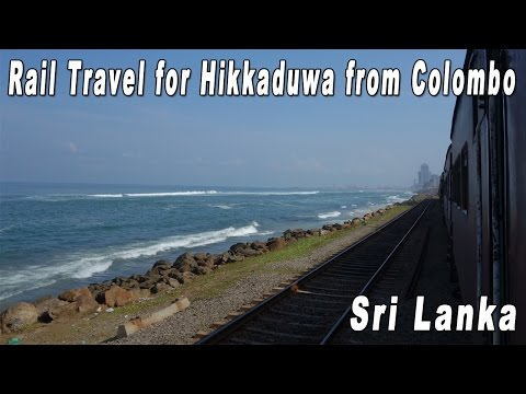 Sri Lanka Rail Travel from Colombo to Hikkaduwa 【Note: Wind Noise】