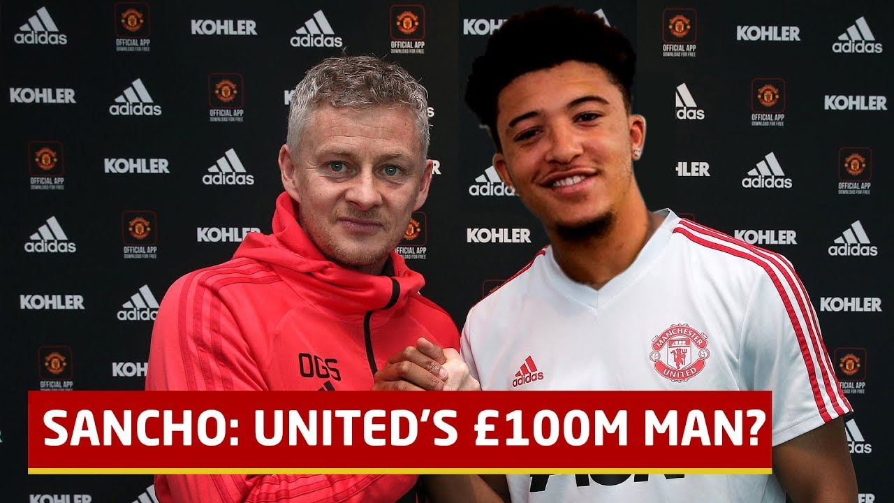 100m Man; The Rise Of Jadon Sancho   Manchester United Transfer News -  YouTube