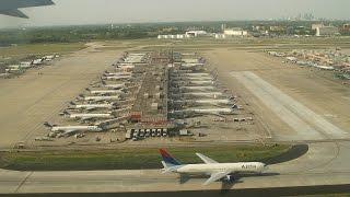 Landing at Hartsfield-Jackson Atlanta International Airport.
