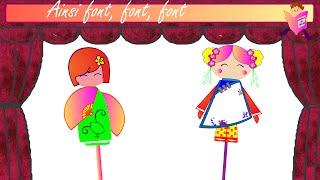 """""""Ainsi Font,Font,Font """"Les Marionnettes -(Comptine pour petits et grands)"""