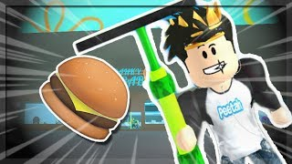 MY JOB AT A FAST FOOD PLACE IN ROBLOX!