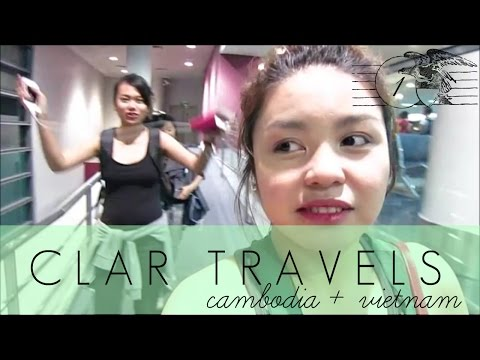 CLAR TRAVELS: Flight to Cambodia! - April 21 '15 - clar831 Vlog