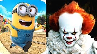 Despicable Me Minion Rush vs The Pennywise Exe.