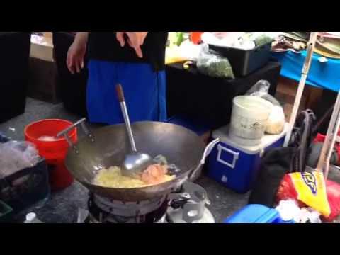 New York City Street Fair Cooking
