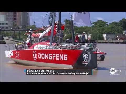 Veleiros da Volvo Ocean Race chegam em Itajaí
