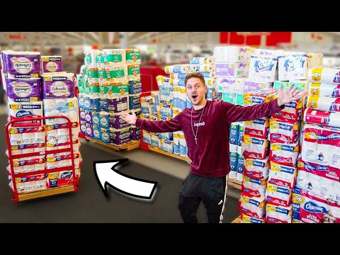 BUYING ALL THE TOILET PAPER!