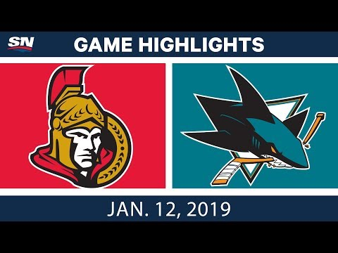 NHL Highlights | Senators vs. Sharks - Jan. 12, 2019