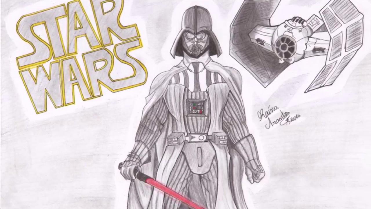 Star Wars Desenhando O Darth Vader Youtube