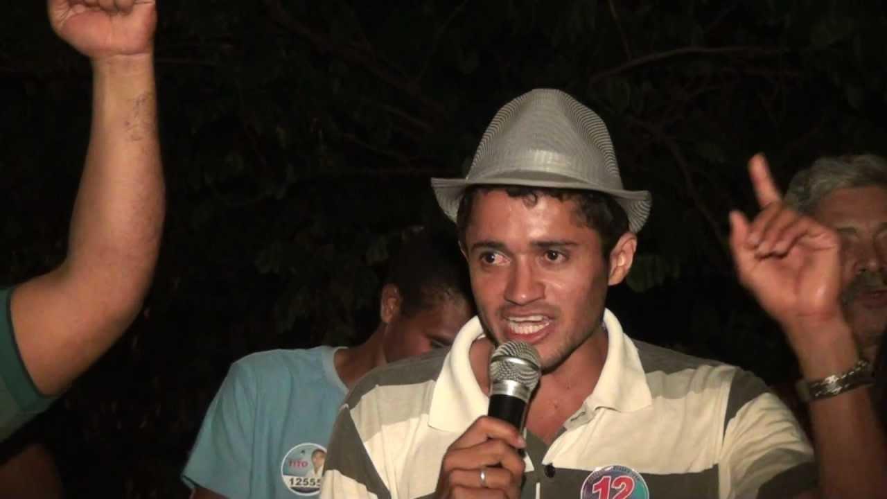 Discurso do Candidato a Vereador Bazim durante comicio no Bairro Alto Bonito