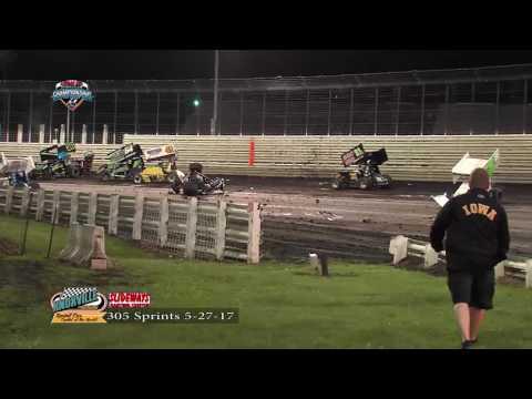 Knoxville Raceway 305 sprints 5-27-17