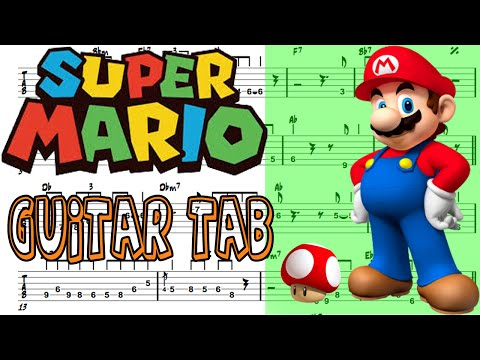 Learn How To Play Super Mario(Theme Song) Fingerstyle Acoustic Guitar Lesson TABS