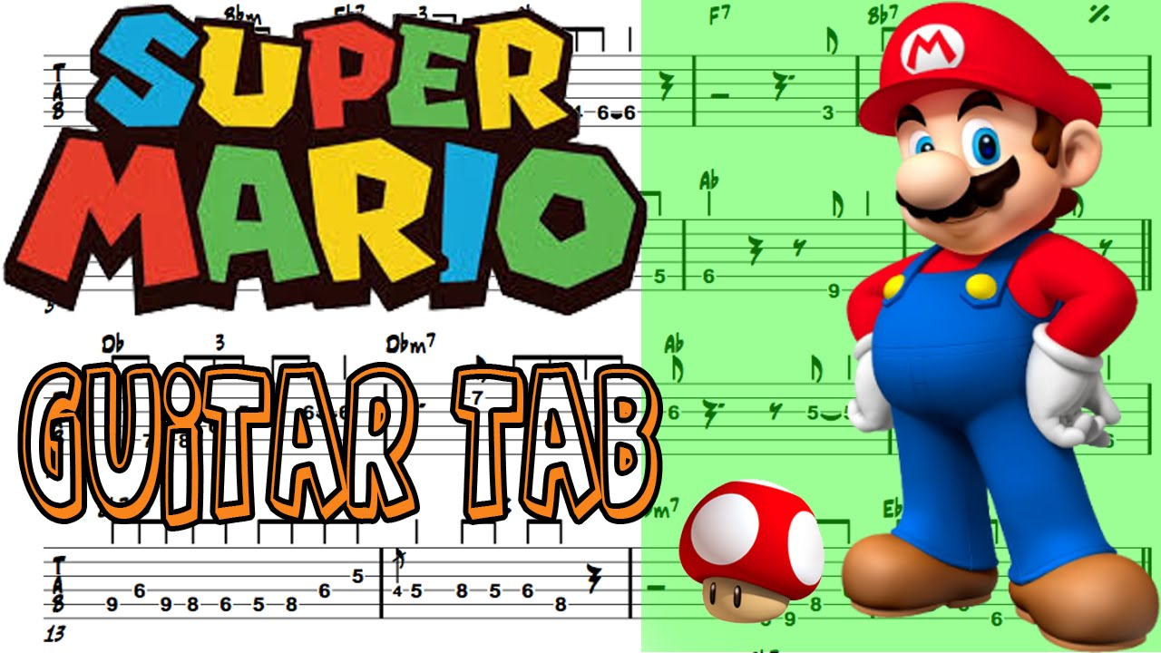 Learn How to Play Super Mario(Theme Song) Fingerstyle Acoustic Guitar Lesson TABS - YouTube