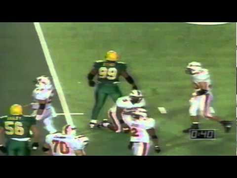 Oregon DT Desmond Byrd sacks OSU QB Rahim Muhammed 11-18-1995
