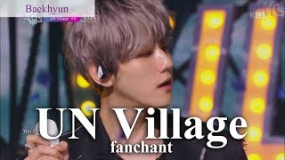 Rom/eng  Baekhyun - un Village Lyrics + Fanchan