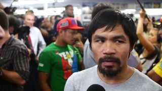 RingTV Reports: Manny Pacquiao media day for Mayweather