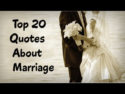 Top 20 Quotes About Marriage  Positive  Funny Marriage Quotes  YouTube