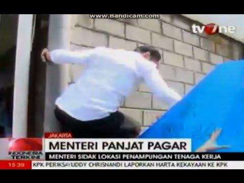 Menteri Hanif Dhakiri Panjat Pagar dan Marah-marah di Tempat Penampungan TKI ~ 5/11/2014