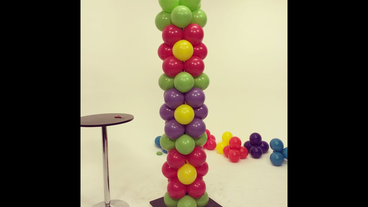 How To Make A Balloon Tower Decoration