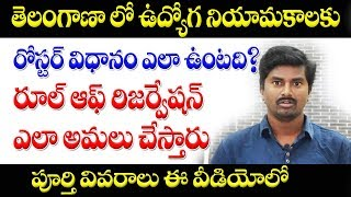 Roster System and Rule of Reservation in Telangana recruitment/promotions || 100 roster points in TS