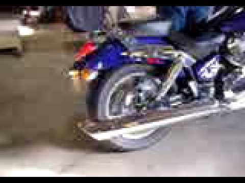 DRL9LSR5Aec on honda vtx 1800c bub exhaust
