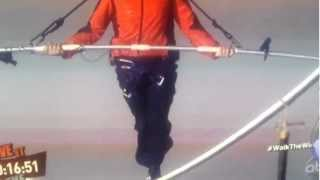 nik wallenda walking over the niagara falls on a tight rope must see this dare devil part 3