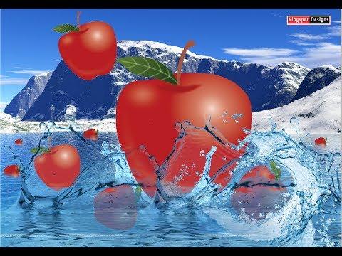CorelDraw Apple in Water Designs Tutorial (by KingspetDesigns & Tech)