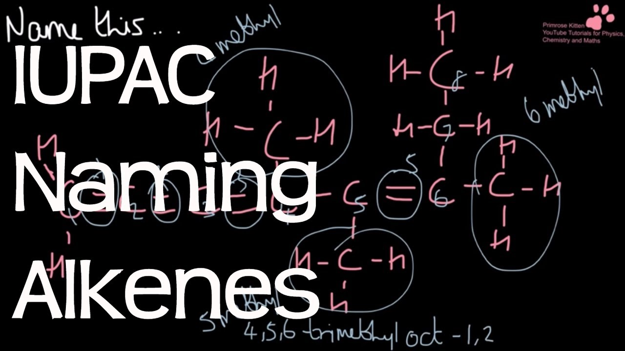 Naming Alkenes Using Iupac Systematic Nomenclature