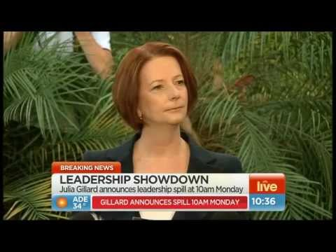 JULIA GILLARD'S STOUSH WITH JOURNO