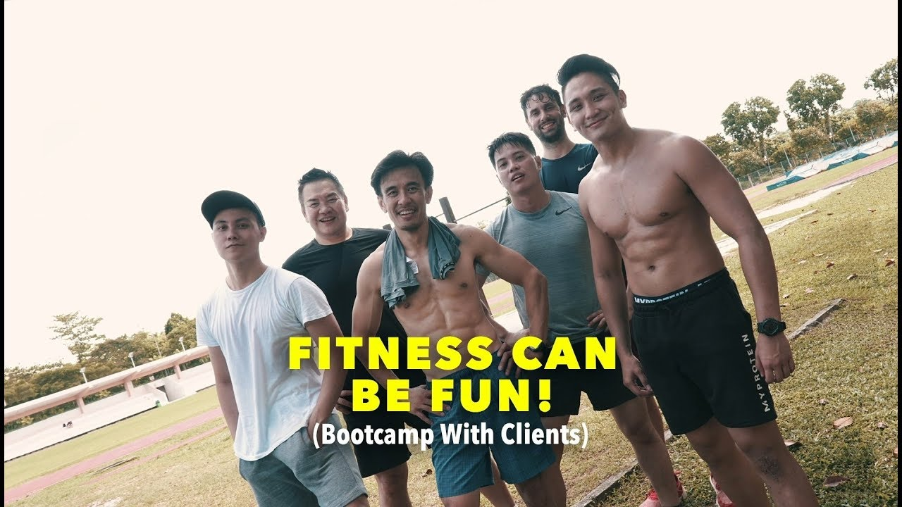 Fitness Can Be Fun! ( Bootcamp With Clients )