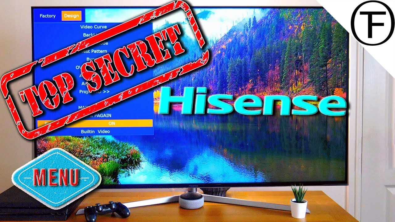 Secret Menu! on the Hisense 55U7A ULED HDR 4K TV 😱