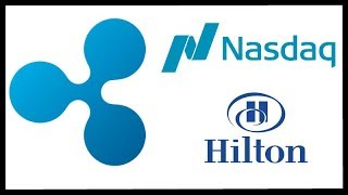 Ripple XRP Use Case Graphic - Ripple on Nasdaq Site - Hilton's Accepting Crypto for Mansion