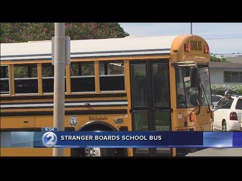 Not all parents alerted after stranger boards school bus filled with children