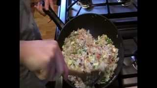 How To Make Fried Rice With Bacon And Vegetable