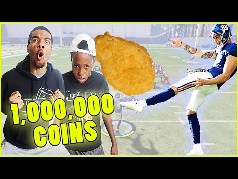 1,000,000 COIN + CHICKEN NUGGET PUNT RETURN WAGER! - MUT Wars Ep.61 | Madden 17 Ultimate Team