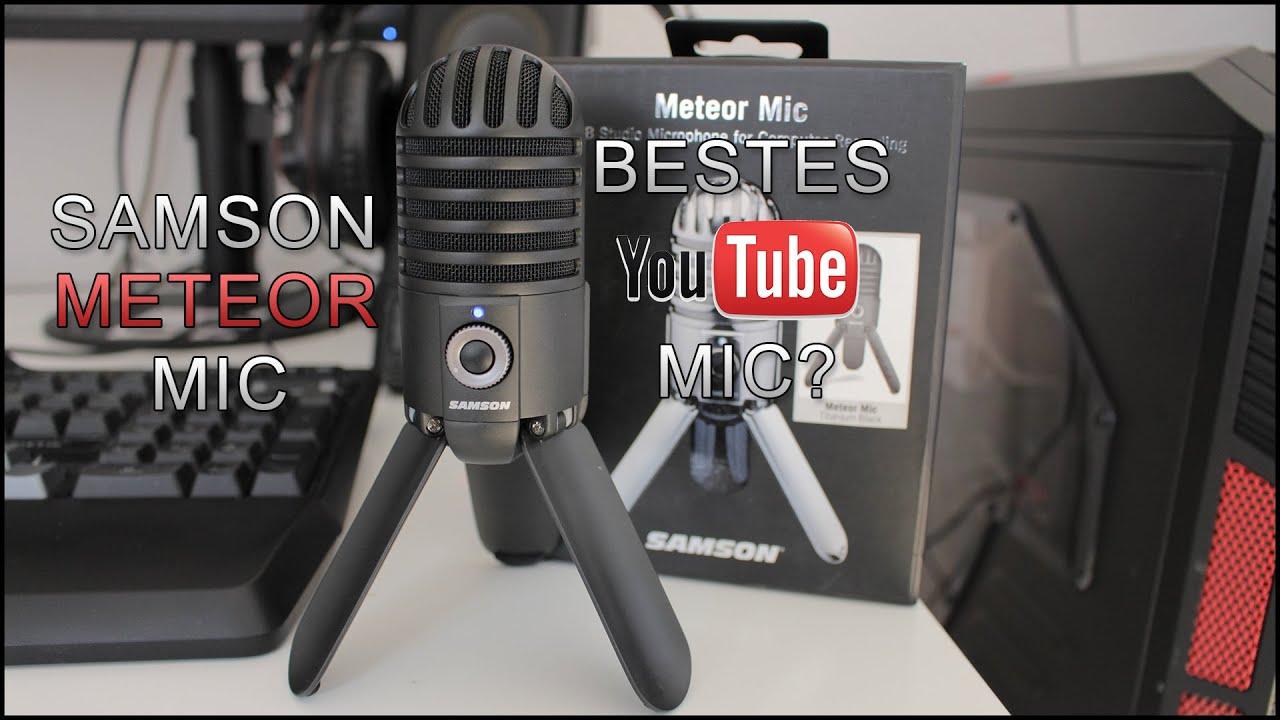 samson meteor usb mic review das beste youtube usb mikro youtube. Black Bedroom Furniture Sets. Home Design Ideas