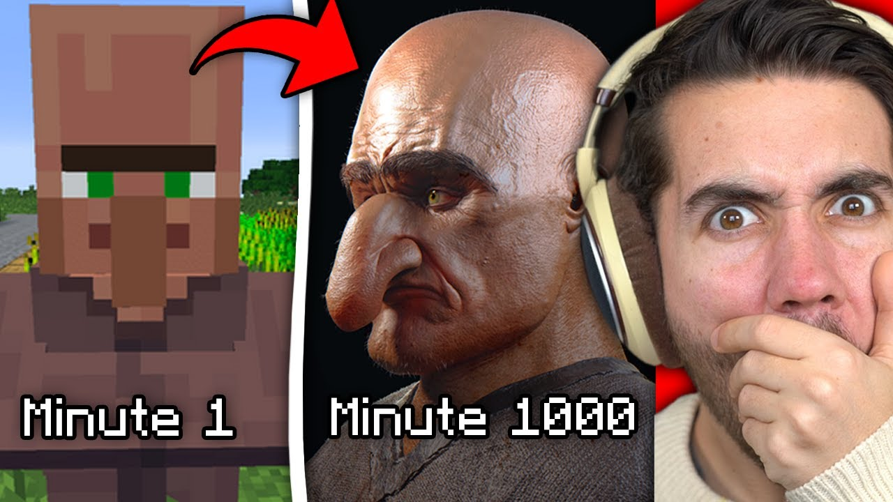 Minecraft But It Gets More Realistic Every Minute