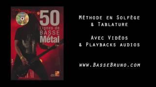 50 LIGNES DE BASSE METAL /// Méthode Bruno Tauzin