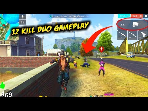 Duo Rank AWM 12 Kills Total Rank Gameplay - Garena Free Fire