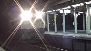 臨時貨物列車 9863レ、シキ800形 大物車 京都鉄道博物館特別展示 最後の勇姿 尾張一宮駅通過
