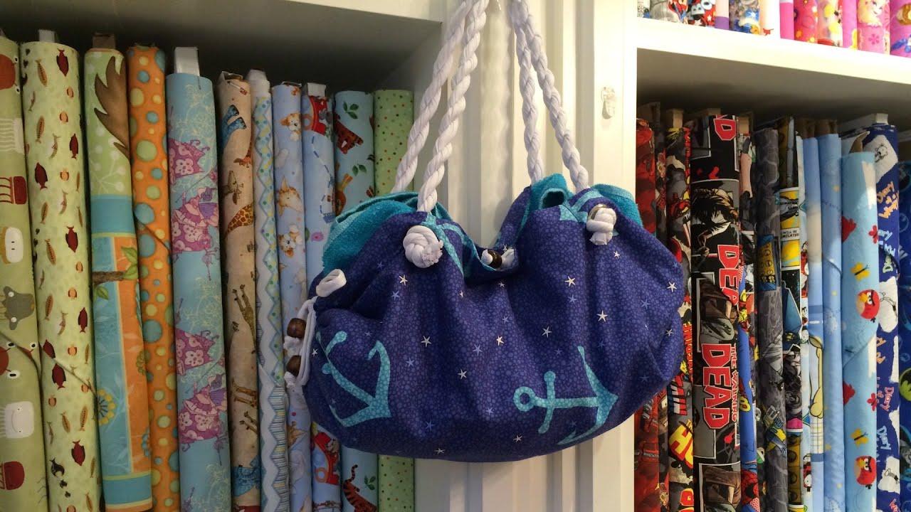 Towel Beach Bag Sewing Tutorial - YouTube