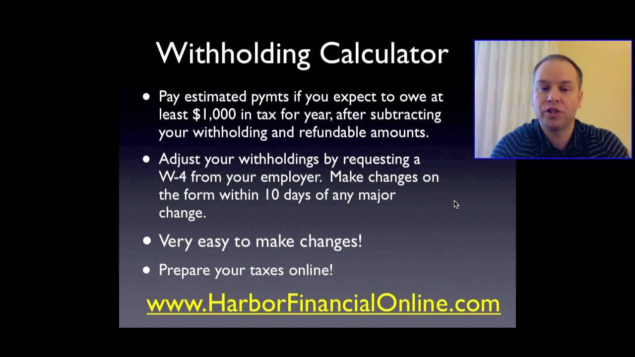 Basic explanation of w-4 tax form: irs withholding calculator & w.